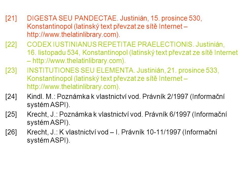 [21]. DIGESTA SEU PANDECTAE. Justinián, 15